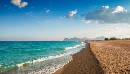 Afandou (Afantou bay) beach, Rhodes island, Greece Stock Photo