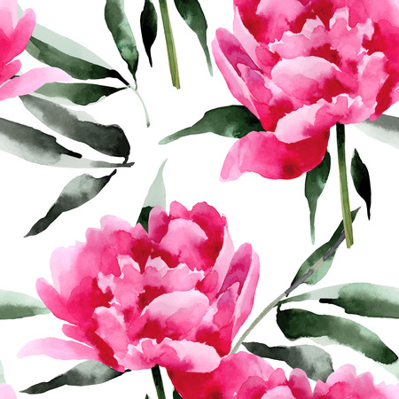 Seamless floral pattern with peonies. Background for web pages, wedding invitations.