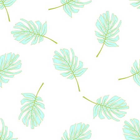 Palm Tropical feuilles. Seamless jungle tropicale motif floral. Vector illustration. Banque d'images - 58409703