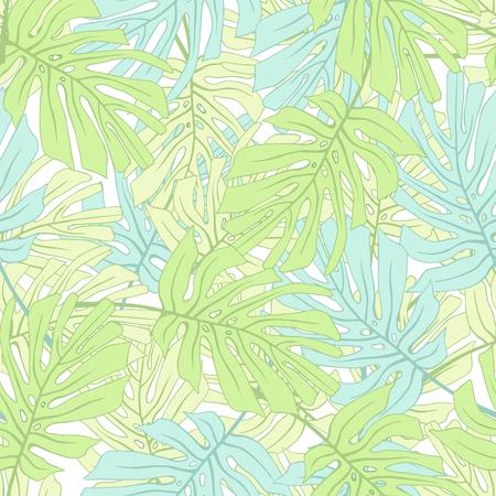 Feuilles de palmiers tropicaux Motif floral de jungle tropical sans soudure. Banque d'images - 59127640