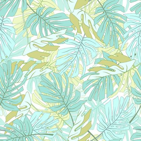 Feuilles de palmiers tropicaux Motif floral de jungle tropical sans soudure. Banque d'images - 59127704