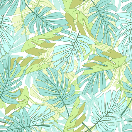 Feuilles de palmiers tropicaux Motif floral de jungle tropical sans soudure. Banque d'images - 59127705