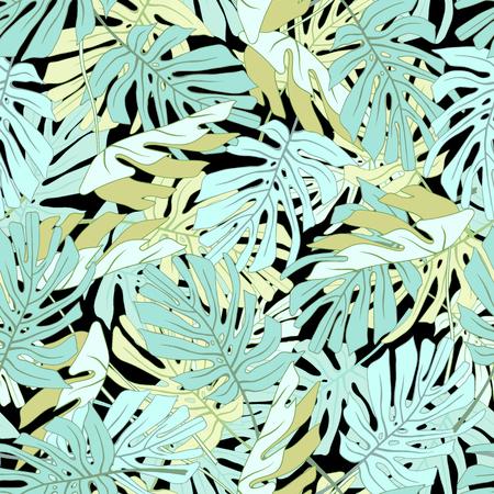 Palm Tropical feuilles. Seamless jungle tropicale motif floral. Banque d'images - 59127617
