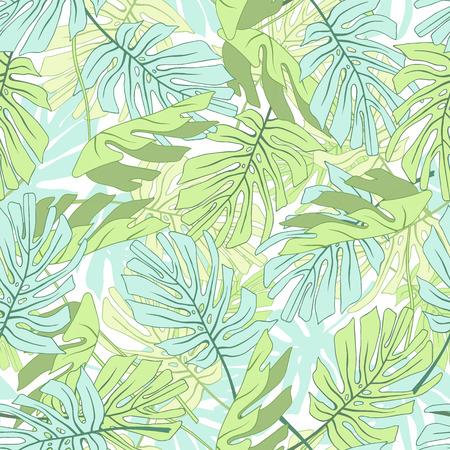 Feuilles de palmiers tropicaux Motif floral de jungle tropical sans soudure. Banque d'images - 60618940