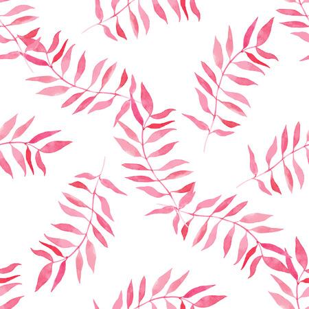 Aquarelle motif floral sans soudure. Texture dessinés à la main avec des feuilles. Banque d'images - 63720809