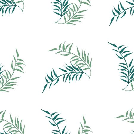 Aquarelle motif floral sans soudure. Texture dessinés à la main avec des feuilles. Banque d'images - 63720807