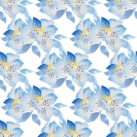 Aquarelle floral pattern. Hand drawn texture à la feuille. Banque d'images - 63720808