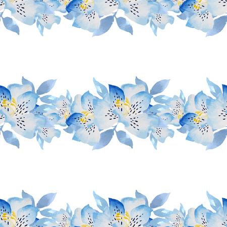 Aquarelle floral pattern. Hand drawn texture à la feuille. Banque d'images - 63720816