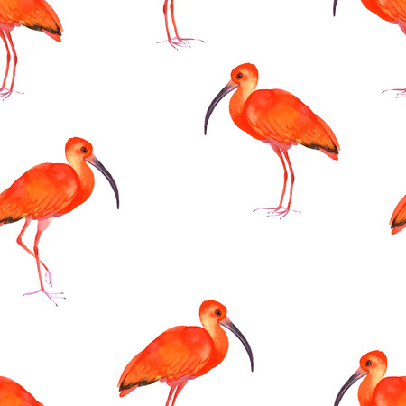 soulful: Watercolor seamless pattern with birds