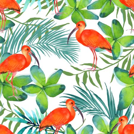 Aquarelle seamless oiseaux Banque d'images - 63720825