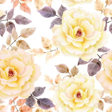 Modèle de roses sans soudure aquarelle. Fond pour les pages Web, invitations de mariage, enregistrer les cartes de date. Banque d'images - 63721065