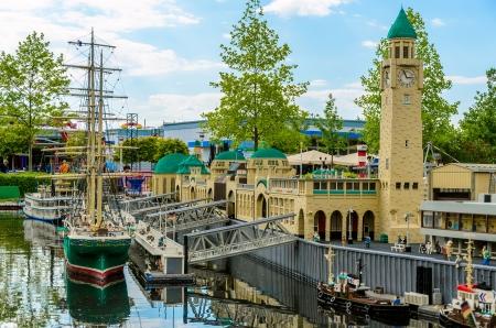 hamburg: Lego Port of Hamburg in German Legoland Park