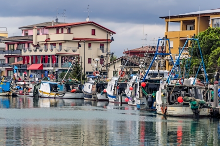 Fishing boat in the port city of Caorle Stock Photo - 15054398