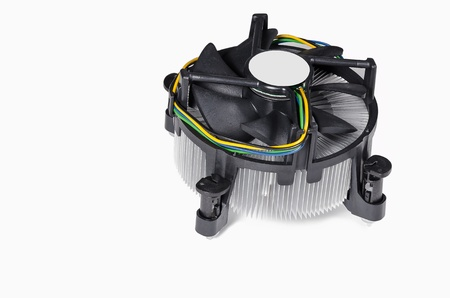 CPU Cooler or heat sink isolated om black background Stock Photo - 17157917