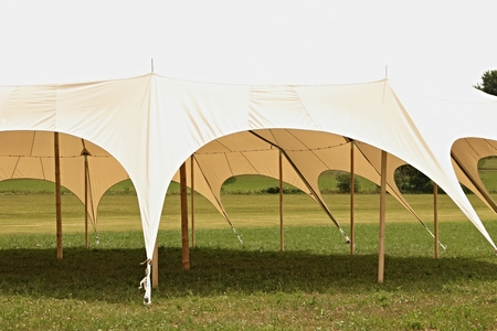 circus tent on meadow