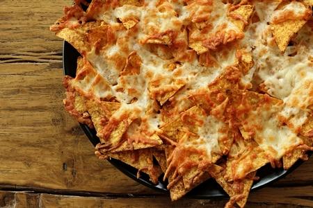 nachos scalloped with cheese Stock Photo