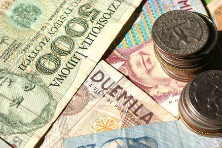 Euro dinero en notas de papel