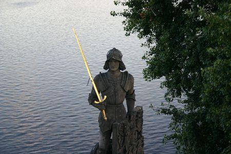 magistrate: golden sword Stock Photo