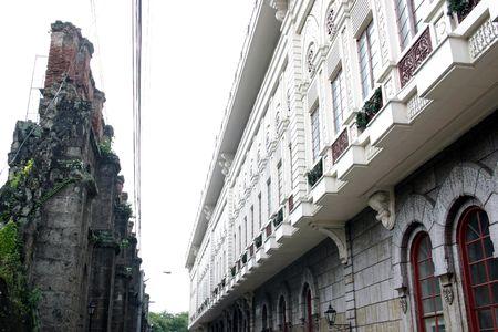 Las calles de Manila  Foto de archivo