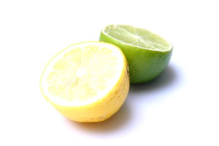 yellow green lemons photo