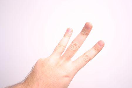 hand 3 three Stock Photo - 1905222