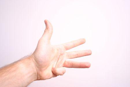 hand 4 four Stock Photo - 1905215