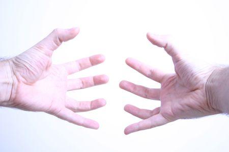 grasp: Grasp hands Stock Photo