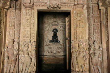 khajuraho: khajuraho temple Stock Photo