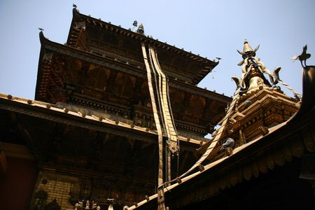 kathmandu temple Stock Photo