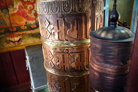 Templo de Katmand�  Foto de archivo