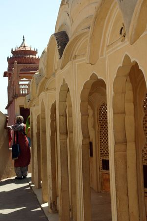 mughal: Jaipur castle Stock Photo