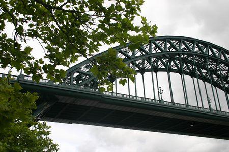 Newcastle puente  Foto de archivo