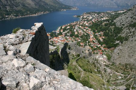 kotor: kotor view Stock Photo