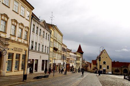 Znojmo casco antiguo de la ciudad  Foto de archivo