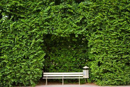 banca del parque Foto de archivo