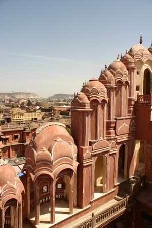 India, Jaipur, Rajasthan, Asia, antiguo, de color �mbar, la arquitectura, el palacio, los viajes, la ciudad, el fuerte