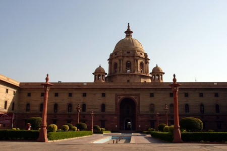 parliament, indian, delhi,capital, legal,  monument, national, architecture, office, royal Stock Photo