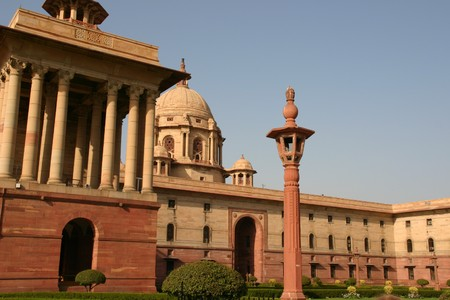 parliament, indian, delhi,capital, legal,  monument, national, architecture, office, royal Stock Photo - 4612238