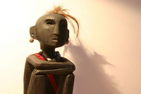 wooden figure: wooden figure Stock Photo