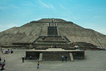 Pir�mides de Teotihuac�n en america mexico Foto de archivo