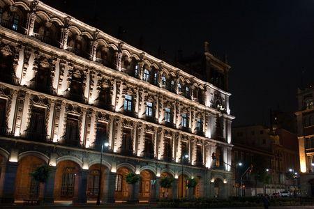 mexico city by night Stock Photo