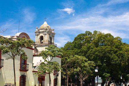 calle de la ciudad antigua Oaxaca