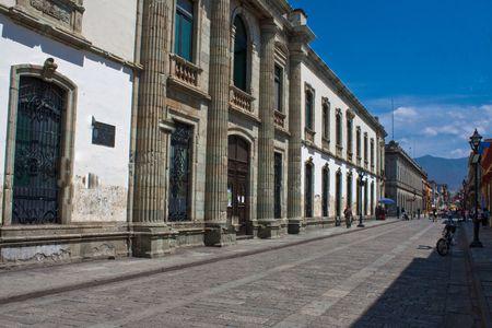 oaxaca old town street photo