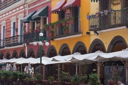 casco antiguo de Puebla Foto de archivo