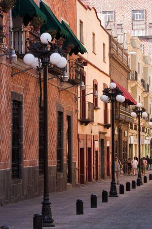 chłopięctwo: starego miasta Puebla Zdjęcie Seryjne