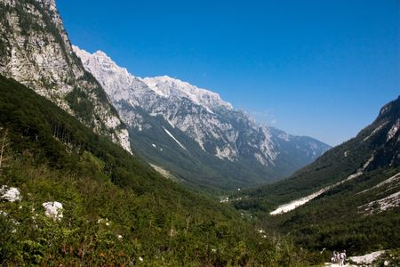 Julian Alps in the Slovenian Mountains
