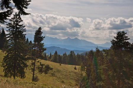 Pieniny Mountains view and mountain biking photo
