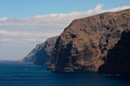 Tenerife beach cliffs Los Gigantes