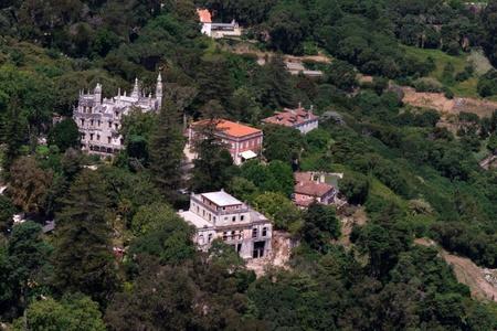 sintra: Sintra Castle View Stock Photo