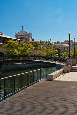 Aveiro canals in Portugal photo